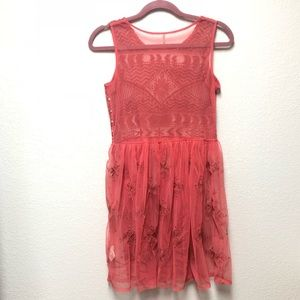Free People Other - Free People Sheer Embroidered Cover Up